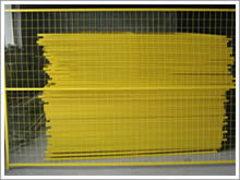 Temporary Fence Panels, Yellow Coated, Welded Mesh