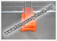 Blow moulded temporary fence feet (combined type)